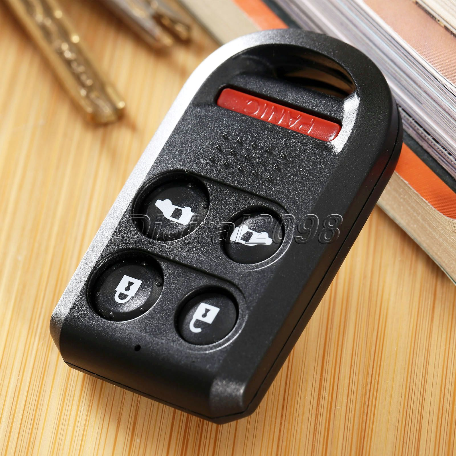 Yetaha 1Pc Replacement Remote Key Shell Case Fob 5 Button Fit for HONDA Odyssey Car Auto Parts Key Case Fob with Uncut Blade