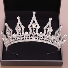 New Fashion Crystal Princess Bride Tiara For Bridal Wedding Dress Accessories Tiaras And Crowns Queen Bridal Hair Accessories silver wedding crwon prince bridal crystal tiara crowns queen bride tiaras princess crowns headband wedding hair accessories
