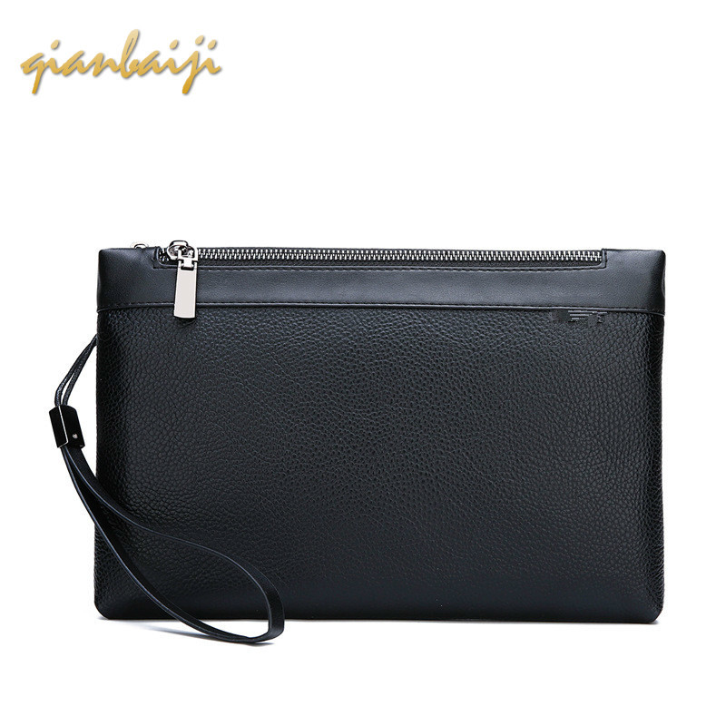 Male Leisure Soft Leather Man Hand Take Wrist Ladies Wallet Women Purse Phone Bag Handbag Womens Wallets And Purses Men Pochette