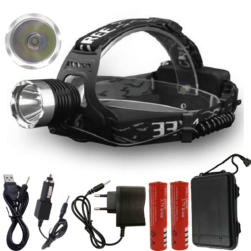 Fishing Light Head Lamp Headlamp Rechargeable Flashlight 3000lm Xm-l Led Bulbs Litwod Camping Riding Climbing Lithium Ion T6