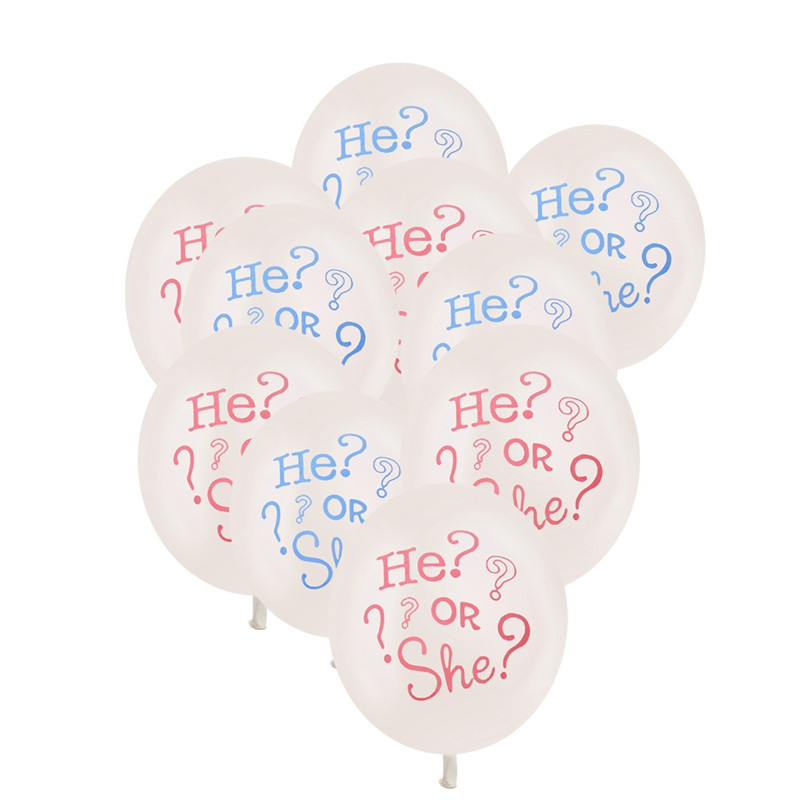 New 10pcs PinkBlue Colors Baby BoyBaby Girl Letter Balloons For Baby Shower Party Celebrate Decoration