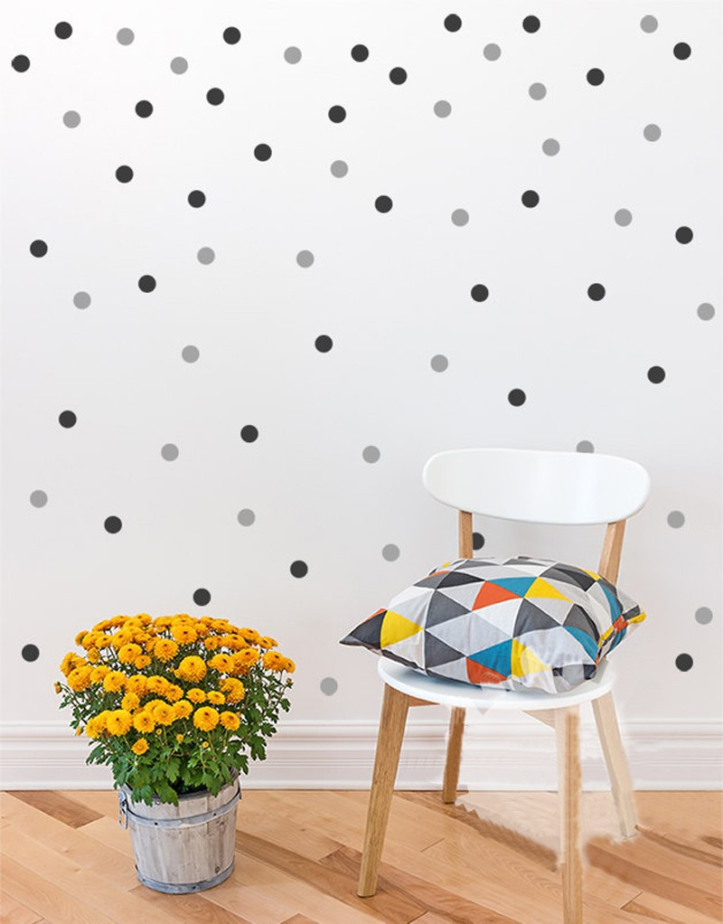 Aliexpress Buy Polka Dots Wall Decal Diy 2color 140 Polka Dot