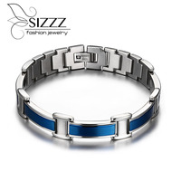 Mens Titanium 4in 1 Bio Nagetive Ion Germanium Magnet Hologram Energy Power Magnetic Health Bracelet Bangle