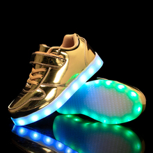 Kids Light Up Shoes High Quality PU Leather Boys Girls Glowing Shoes Children Skateboarding Luminous Sneakers kids shoes led glowing sneakers children 7 colors light up luminous sole girls boys casual shoes kids usb charging sneakers
