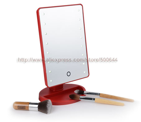 Wholesale Professional Smart Touch Sensor 16 LED Makeup Mirror Desktop Table Cosmetic Mirror & 50PCS/Lot DHL/EMS Free Shipping