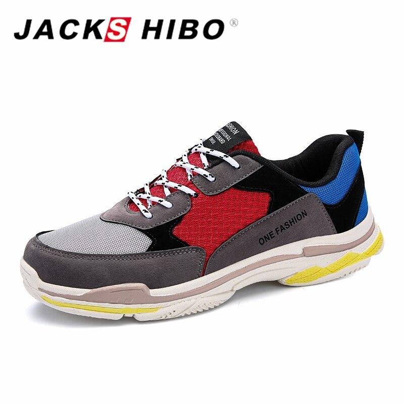 JACKSHIBO Hot Sale Men Classic Sneakers Retro Patchwork Mens Shoes Casual Footwear Male Shoes Zapatillas Hombre Size 39-44