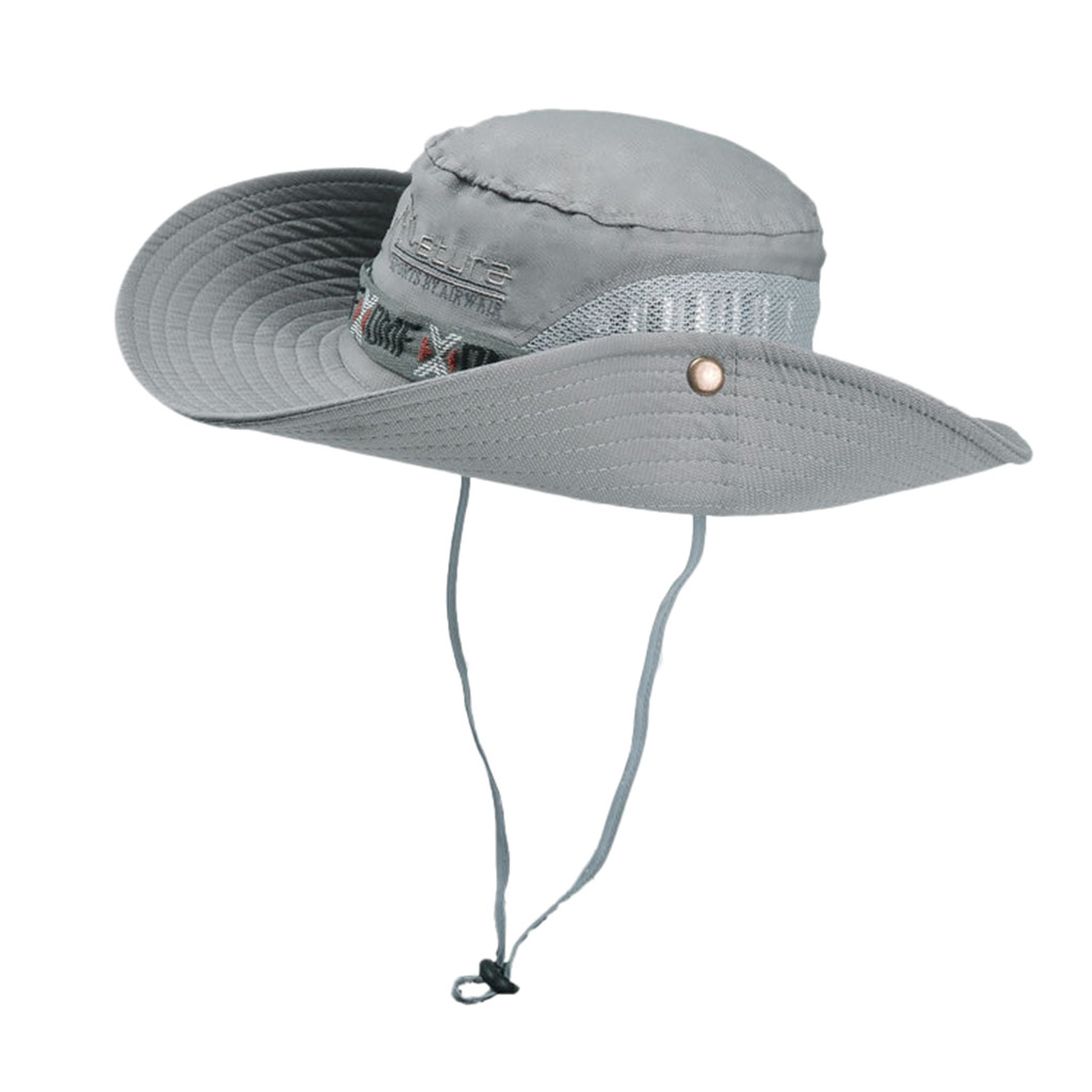 Bucket Hat Cap String Sun-Hats Boonie Fisherman Panama Military Safari Women Camouflage