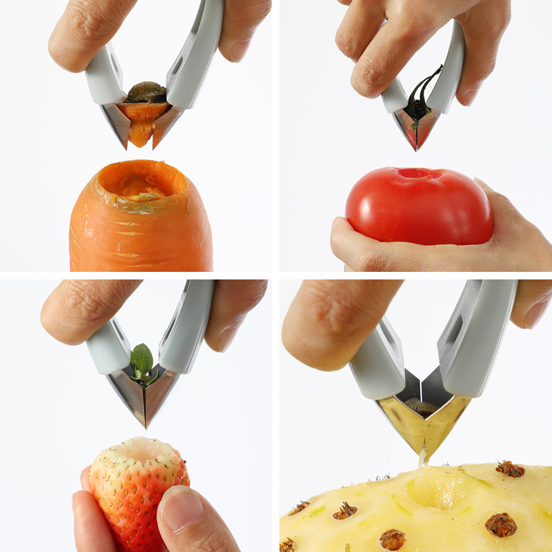 Купить с кэшбэком 2019 New Kitchen Tool Strawberry Pineapple Knife Pineapple Cleaning Tool Stainless Steel