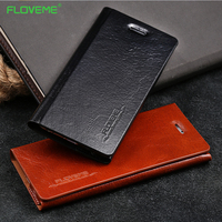 Floveme Luxury Genuine Cowhide Leather Case For Iphone 6 6S 6 S Plus Flip Card Slot