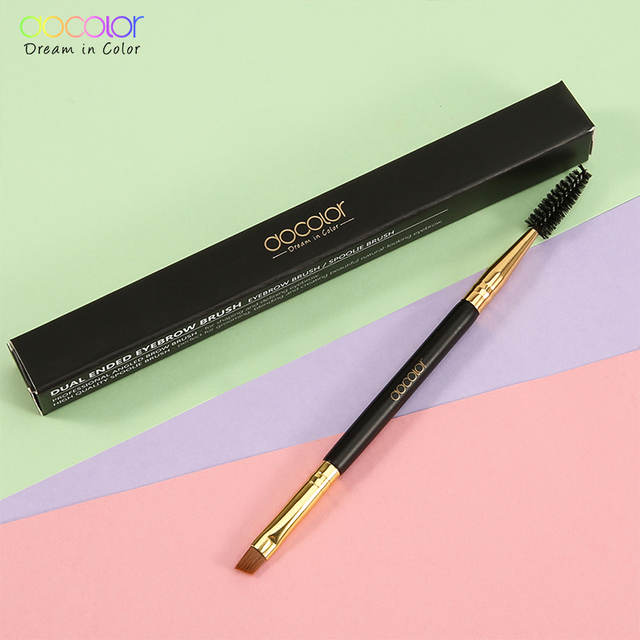 Docolor New Eyebrow Brush Makeup Brush Eyebrow Brush Eyebrow Comb Double Ended Brushes Beauty blending eye pinceaux maquillage 5