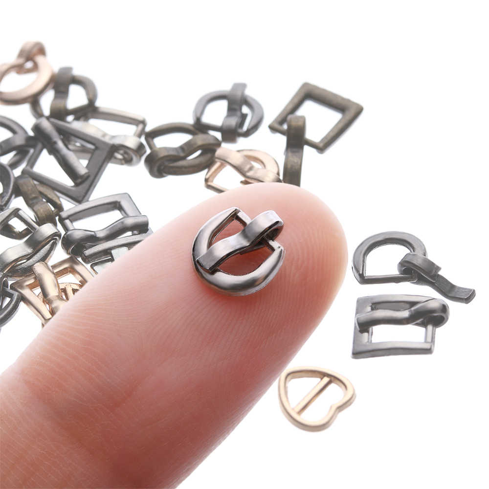 6PCS Mini Ultra-small Tri-glide Buckle Belt Buckle for BJD/SD Doll Bag Buckles DIY Doll Buckle Shoes Clothes Accessories 7*8MM