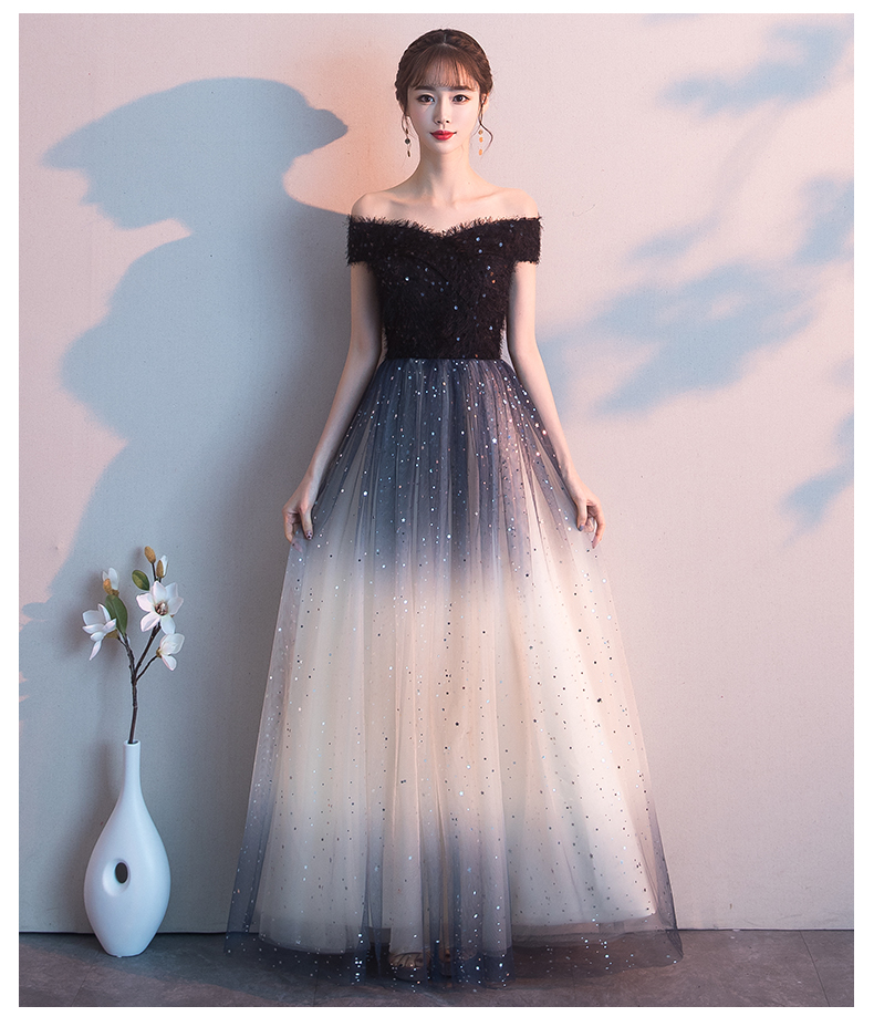 JIN IS YARN Sexy Off The Shoulder Long Evening Dress Party Festa Long Prom Gown 2019
