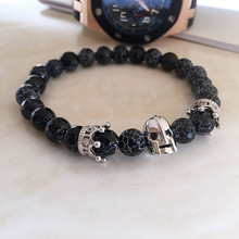 Spartan Helmet Bracelets natural Stone Bracelet for men