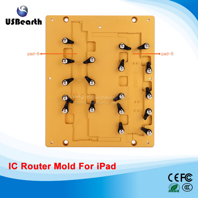 Metal polishing milling mould mold for ipad 5/6 for IC remove cnc router new metal 3d sublimation mold printed mould tool heat press for ipad mini 2 for ipad mini mould