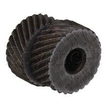 2 шт 19x8 мм инструмент для накатки колеса грубая Диагональ саржевого рисунка 1,6 мм шаг ролика