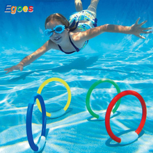 Egoes BESTWAY Underwater Swimming and Diving Swimming Pool Toy Play Rings 32030 and Fish-Ring 32031 egoes bestway 58212 swimming pool vacuum set bestway pool cleaner kits