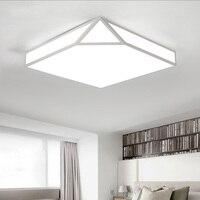 Геометрический творческий светодиодный потолочный светильник для гостиной спальня office Deco Главная Освещение потолочный светильник дома Ос