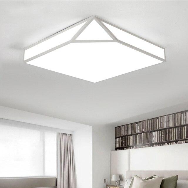 geometrique creative led plafonnier pour salon chambre bureau deco maison eclairage maison de lampe de plafond