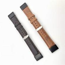 22 Millimetri 26 Millimetri Genuine Leather Sgancio Rapido Easy Fit Watch Band per Garmin Fenix 6X 5X Fenix5 6 Fenix 3 Tessuto di Sport Della Cinghia 11.20