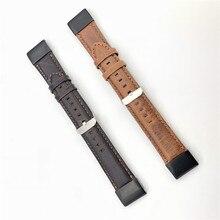 22mm 26mm prawdziwej skóry Quick Release łatwe dopasowanie Watch Band dla Garmin Fenix 6X 5X Fenix5 6 fenix 3 tkany pasek sport 11.20