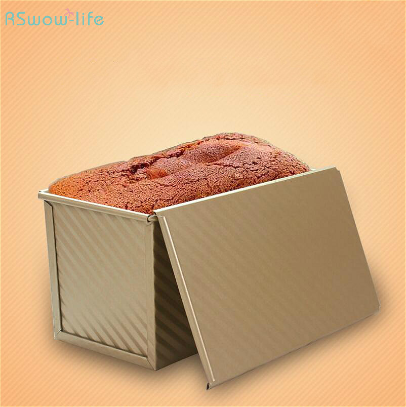Baking Tool For Rectangular Golden Toast Bread Mold Oven Homemade Cake Kitchen Tools Baking Carbon Steel Rectangle Making Bread in Other Cake Tools from Home Garden