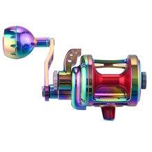 WOEN TA500 alliage daluminium Anti eau de mer fer plaque roue 25 KG force de freinage bateau pêche roue rapport de vitesse: 4.9: 1 tambour roue