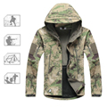 Shark Skin Mens Jackets Casual Hooded Tactical Jacket Military Softshell Waterproof Windproof Army Thickening Windbreaker