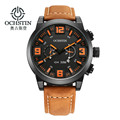 Mens Watches Top Brand Luxury OCHSTIN Men Military Wristwatch Leather Date Quartz Watch business luxury gift watchrelogio mascul