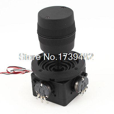 цена на Single Linear 10K Ohm Pushbutton Switch Industrial Joystick Potentiometer Black
