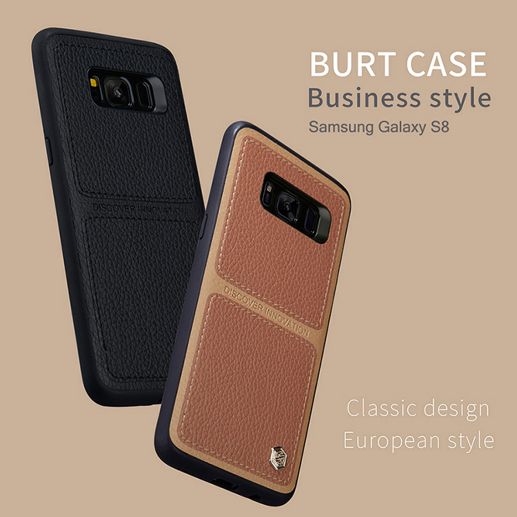 For Samsung Galaxy S8 Case Nillkin Burt Business style Leather Case Cover For Samsung Galaxy S8 Plus Case Cover