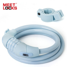 MEETLOCKS Combination Code Password Bicycle Lock, Dia.12mmx5 Feet(L) 150cm Cable Lock For Bike Bracket