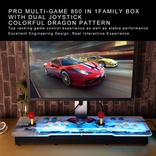 Professional Multi-game 800 in 1 Family Box with Dual Joystick HD Home Game Machine Colorful Dragon Pattern English Version