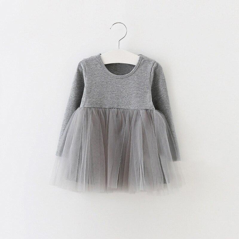Kids Girls 0-4 Years Birthday Dresses Infant Dress Newborn Girls Clothes Babys Cotton Long Sleeve Clothing P1
