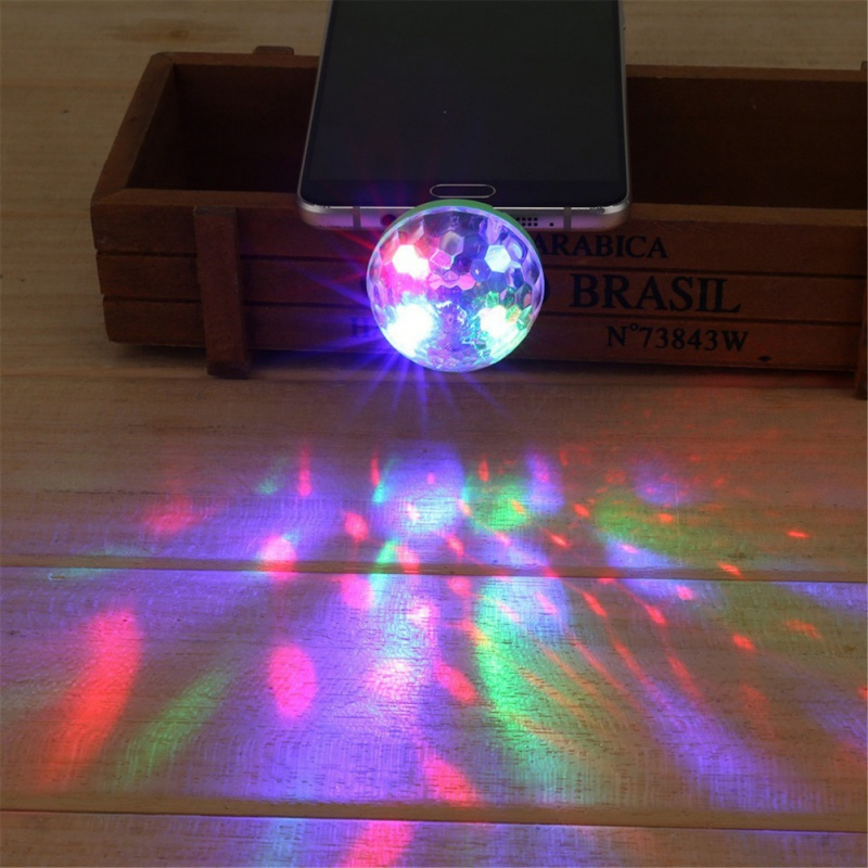 5W USB Powered Mini RGB LED Disco Ball Shape Stage Effect Party Club DJ Light for Mobile phone PC pow bank diy