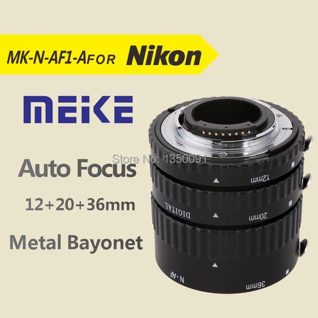 N-af-a Meike Auto foco tubo de extensão Macro para Nikon D60 D90 D3000 D3100 D3200 D5000 D5100 D5200 D7000 D7100 DSLR