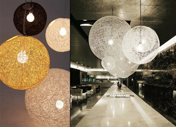 30CM Wicker ball country style LED pendant lamp for bar bedroom study cafes home lightings,E27*1 Bulb Included,AC 90V~260V smart bulb e27 7w led bulb energy saving lamp color changeable smart bulb led lighting for iphone android home bedroom lighitng