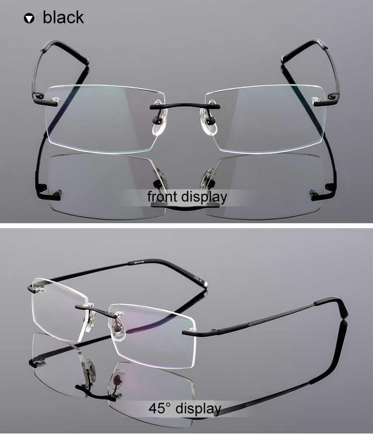efd178e767b9 Detail Feedback Questions about QianJing Alloy Rimless Optical Eyeglasses  Rimless Spectacle Frame Men Gents Frameless Clear Glasses Gold Prescription  ...