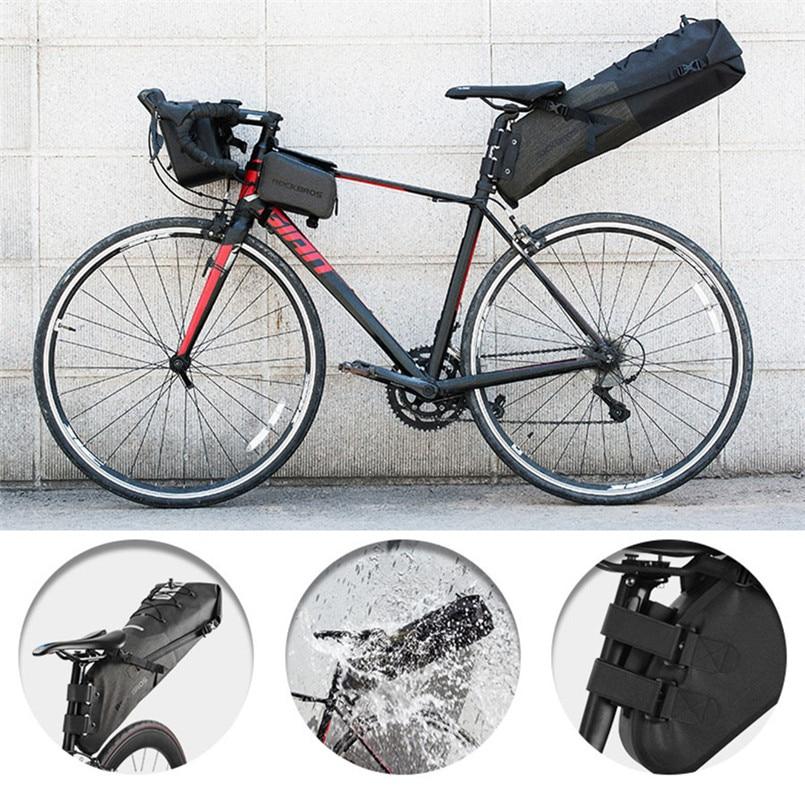 ROCKBROS Bike Bag Waterproof Reflective Large Capacity Cycling Saddle Bag 12-14L