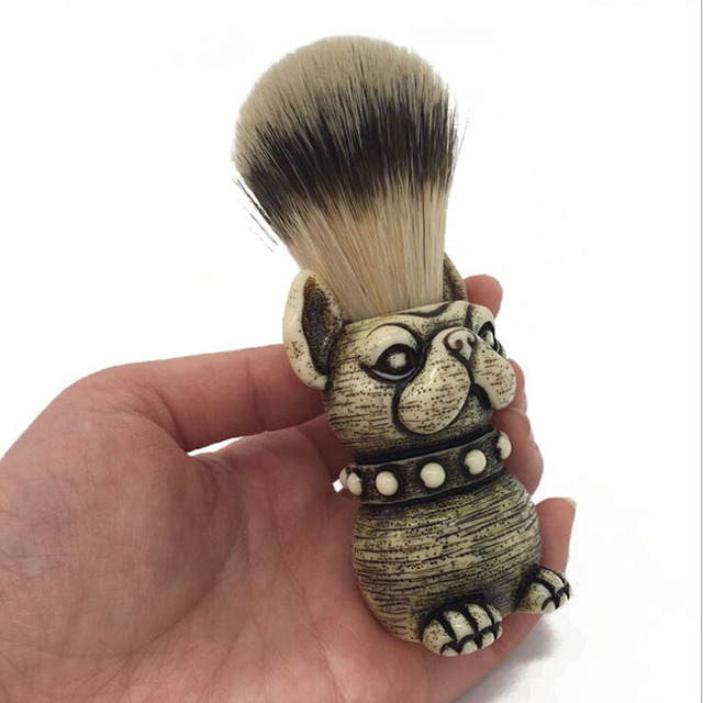 2017 Beard Brush dog Head Badger Hair brush Man Shaving Brush Makeup brush 1