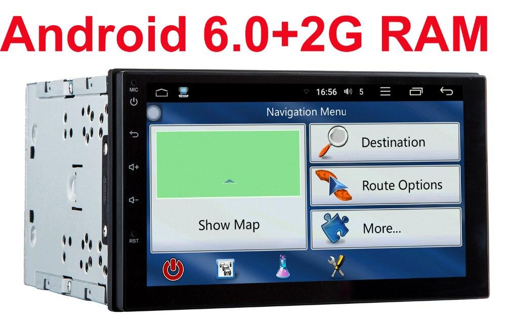 2G RAM 2 din android 6.0 car dvd gps video player universal x-trail Qashqai x trail juke for nissan dvd gps in dash 3G wifi