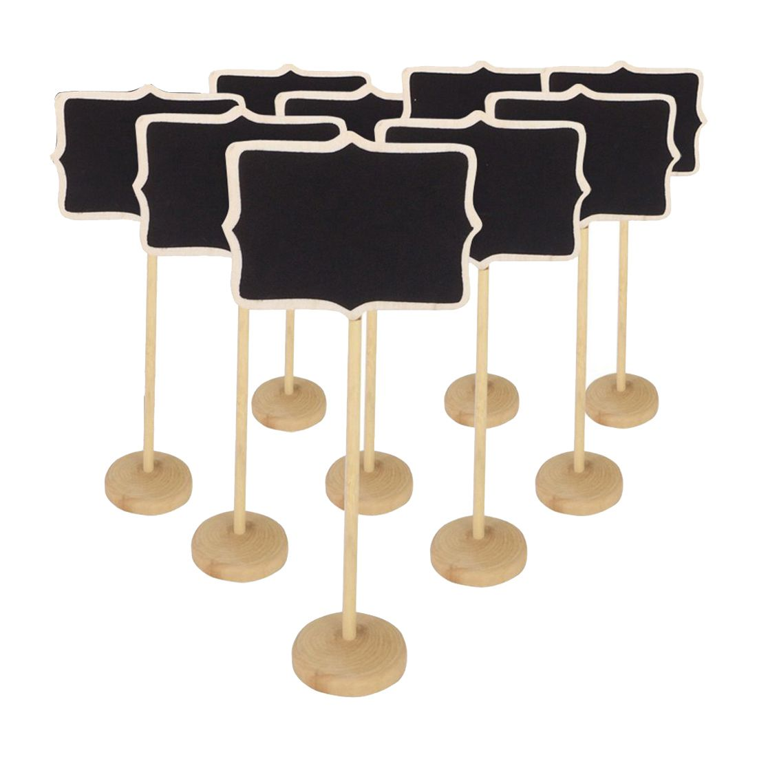 MINI Blackboard Chalkboard Wooden Message Board Holder With Stand For Party Wedding Table Number/place Card Setting Decoration