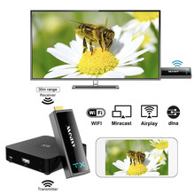 HDTV Projector W2H Mini II Wireless HDMI Transmitter and HDMI Receiver 1080P 3D Video Transmitter 30M Wireless Audio Receiver