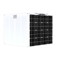 Boguang 12 volt 50 watt flexible Monocrystalline solar panel module 12v 50w battery power solar charger connector