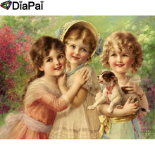 DIAPAI 100% Full Square/Round Drill 5D DIY Diamond Painting Girl oil painting Embroidery Cross Stitch 3D Decor A19041