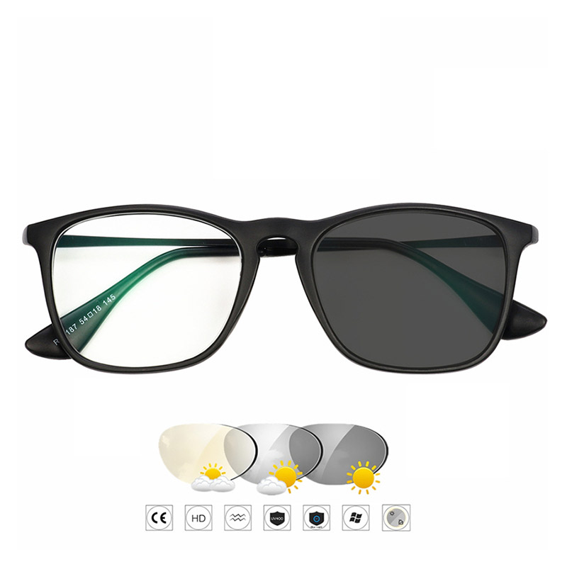 Logorela Photochromic Hyperopia Eyeglasses Finished Myopia Glasses For Men Women Computer Optical Glasses Frame