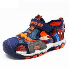 1197da0b5 Crianças meninos sandálias sapatas do verão do homem aranha 4-13 anos  criança cut-