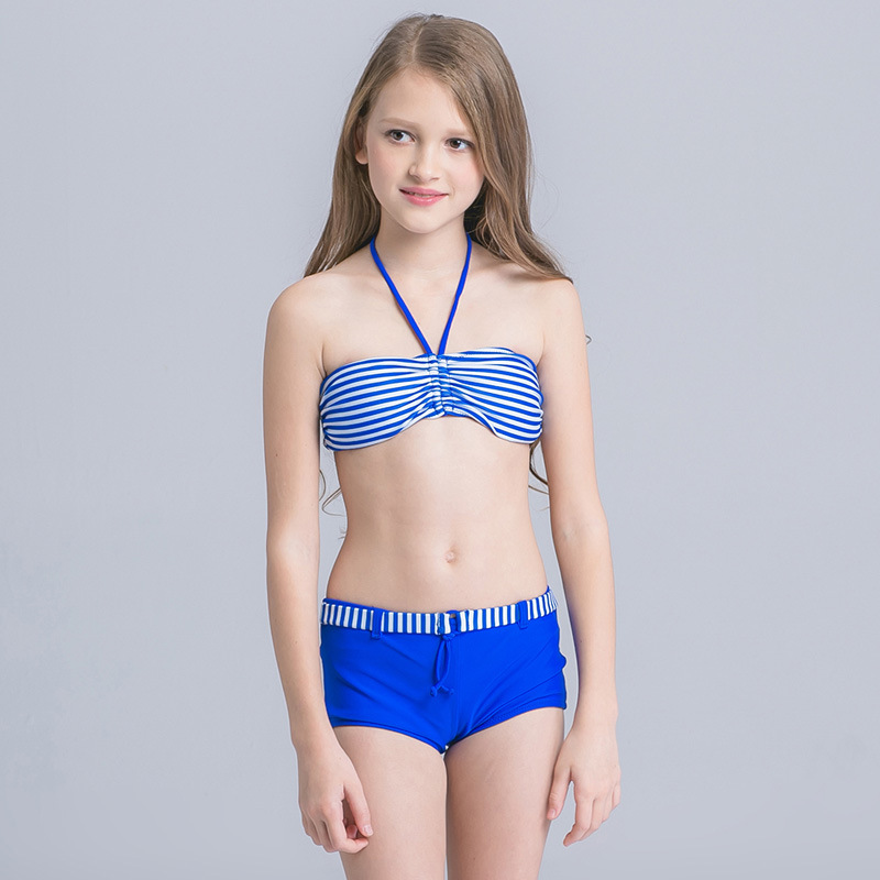Girls Bikini 2020 New Summer Swimsuit Lovely Kids Two Pieces Swimwear Children Tankini Beachwear Bathing Suit Girls Split Bikin