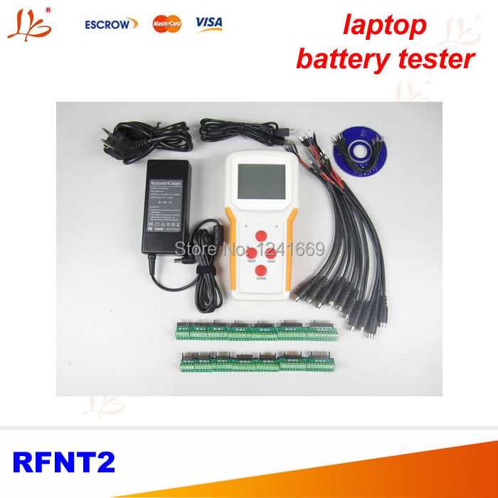 Portable external laptop battery tester RFNT2 with charge and test functions, support two channel intelligent batteries attachment and mentoring functions of career and psychosocial support