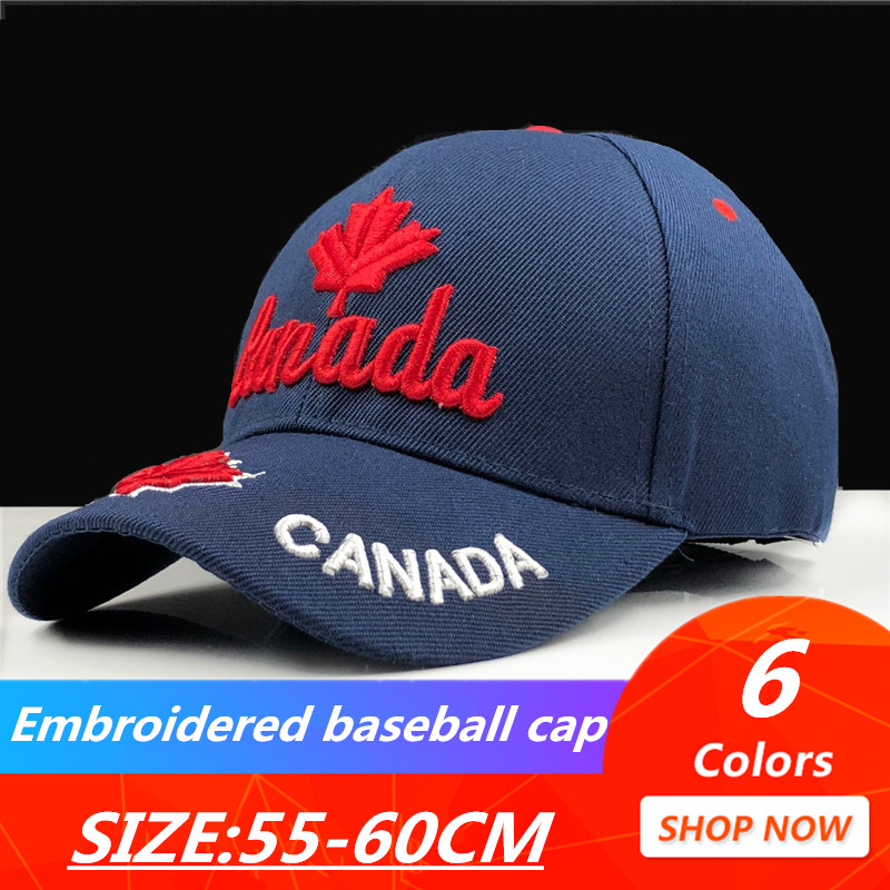 2019 New Canada Cap 3d Embroidery Canada Maple Leaf Baseball Caps Cotton Adjustable Snapback Hat Fashion Caps Casual Hats