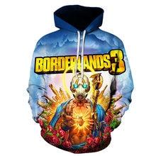 Borderlands 3 Hoodie Men/Women 3D Print Sweatshirt 2019 Game Cosplay Streetwear Harajuku Pullover